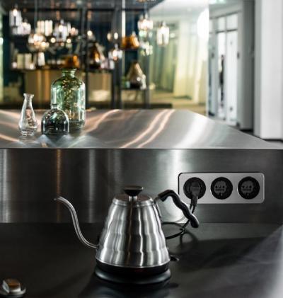 Modern konnektor - konyha / étkező ötlet, modern stílusban