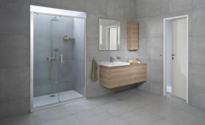 Tágas zuhanyfülke - fürdő / WC ötlet, modern stílusban