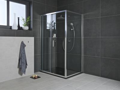 Sarok zuhanyfülke - fürdő / WC ötlet