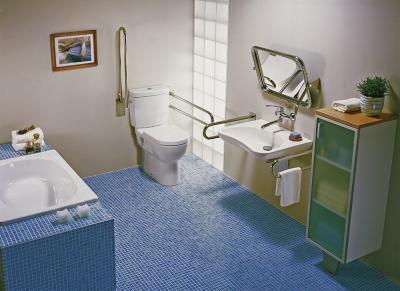 Akadálymentes fürdőszoba - fürdő / WC ötlet, modern stílusban