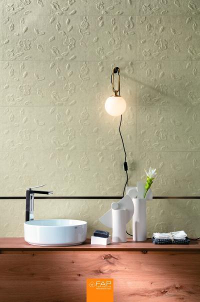Dombornyomott csempe - fürdő / WC ötlet, modern stílusban