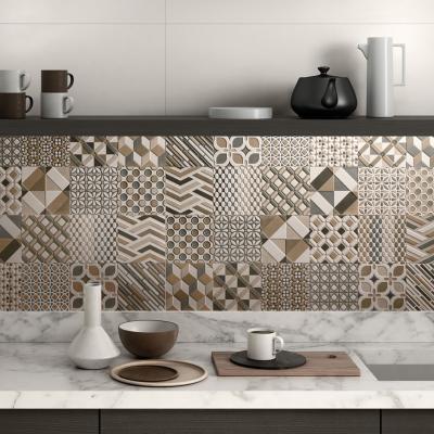 Mintás felületű csempe - konyha / étkező ötlet, modern stílusban