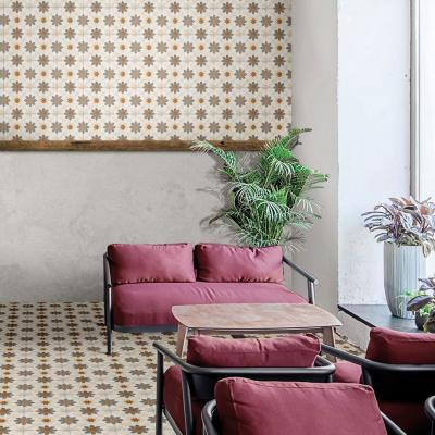 Keleties hatású csempe - nappali ötlet, modern stílusban