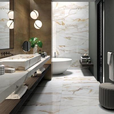Márvány és beton - fürdő / WC ötlet, modern stílusban