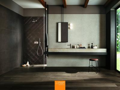 Nagyméretű csempe - fürdő / WC ötlet