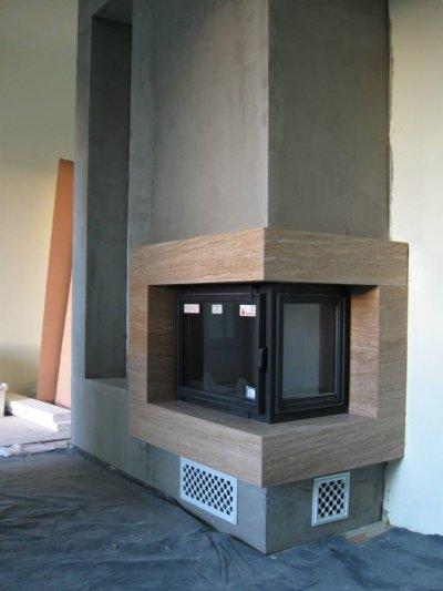 Sarokkandalló - nappali ötlet, modern stílusban