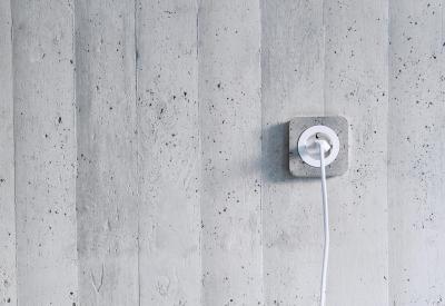 Konnektor beton kerettel - nappali ötlet