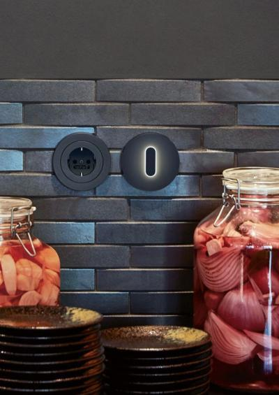 Kapcsoló irányfénnyel - konyha / étkező ötlet, modern stílusban