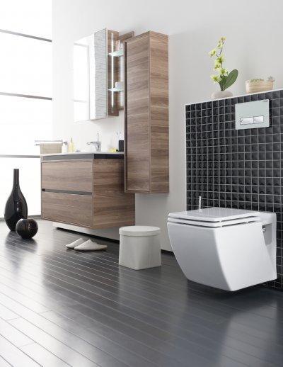 Szögletes fali wc - fürdő / WC ötlet, modern stílusban