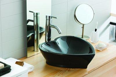 Szív alakú mosdó - fürdő / WC ötlet, modern stílusban