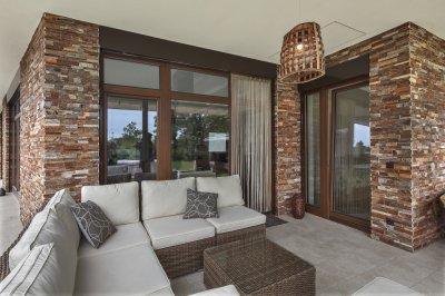 Mediterrán kőburkolat - erkély / terasz ötlet