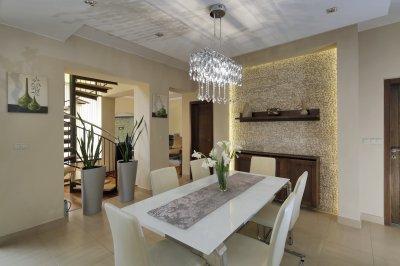 Mozaik falburkolat - nappali ötlet, modern stílusban