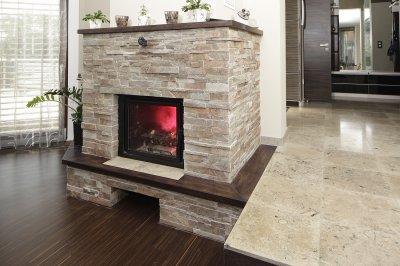 Mediterrán kőburkolat - nappali ötlet
