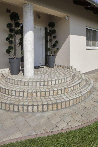 Mészkő teraszburkolat - erkély / terasz ötlet, klasszikus stílusban