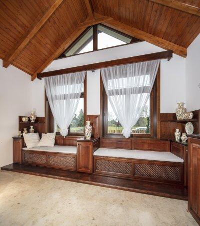 Mészkő padlóburkolat - nappali ötlet, rusztikus stílusban