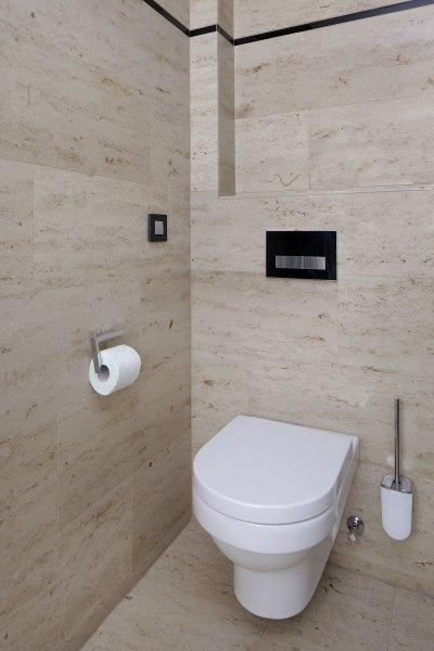 Mészkő fal- és padlóburkolat - fürdő / WC ötlet, modern stílusban