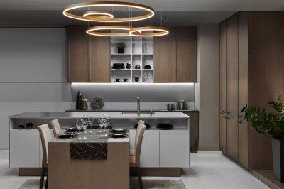 Egyedi konyhabútor kombináció - konyha / étkező ötlet, modern stílusban