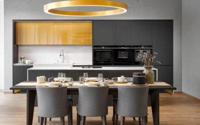 Modern antracit és fehér konyhabútor - konyha / étkező ötlet, modern stílusban