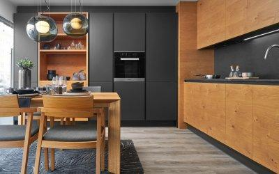 Modern antracit konyhabútor - konyha / étkező ötlet, modern stílusban