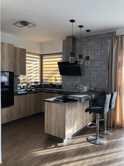 L alakú konyhabútor - konyha / étkező ötlet, modern stílusban