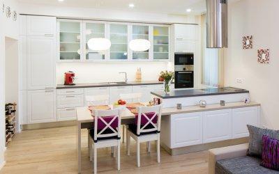 Fehér konyhabútor - konyha / étkező ötlet