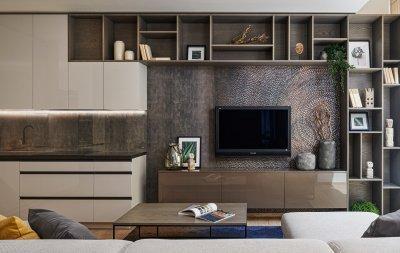 Mokka nappali bútor - nappali ötlet, modern stílusban