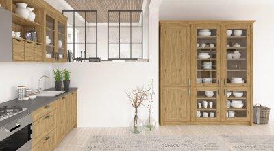 Natúr fa konyhabútor - konyha / étkező ötlet