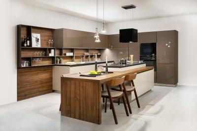 Pezsgő-mokka konyhabútor - konyha / étkező ötlet, modern stílusban
