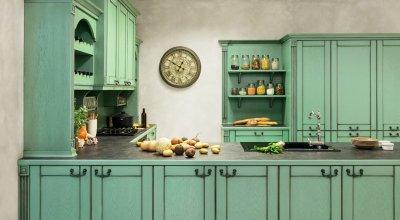 Vintage konyha zöld színben - konyha / étkező ötlet