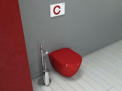Piros wc - fürdő / WC ötlet, modern stílusban
