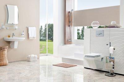Modern, szögletes wc - fürdő / WC ötlet, modern stílusban