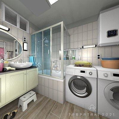 Fürdőszoba 5 négyzetméteren - fürdő / WC ötlet