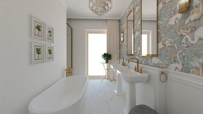 Fürdőszoba elegánsan - fürdő / WC ötlet, klasszikus stílusban