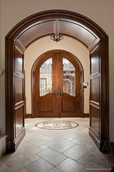 Kő padlólap - előszoba ötlet, klasszikus stílusban