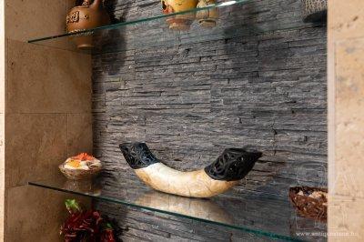 Kő falburkolat - nappali ötlet