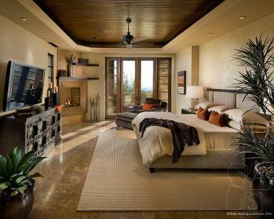Kőburkolat a padlón - nappali ötlet