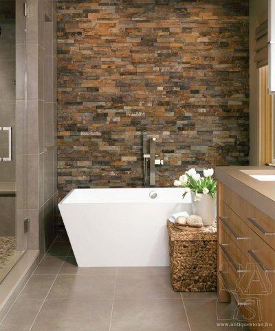 Natúr kő a fürdőben - fürdő / WC ötlet, modern stílusban