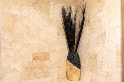 Kőburkolat a fürdőszobában - fürdő / WC ötlet