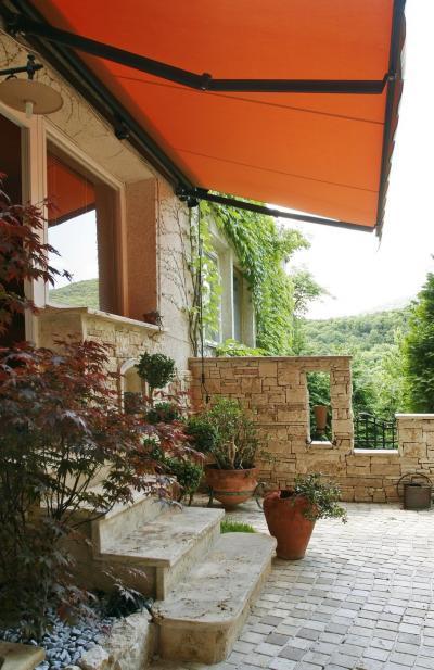 Textil napellenző - erkély / terasz ötlet