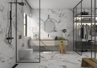 Prissmacer_tinenza burkolat - fürdő / WC ötlet, modern stílusban