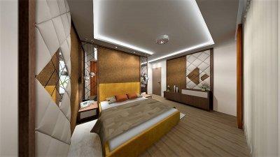 Glamour stílusú hálószoba 3D látványtervei. - háló ötlet, egyéb stílusban