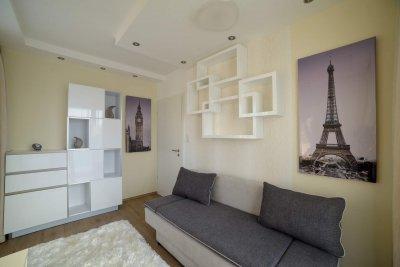 Modern stílusú vendégszoba - nappali ötlet, modern stílusban