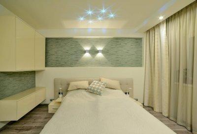 Modern hálószoba design lámpákkal - háló ötlet, modern stílusban