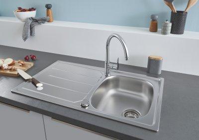 Egytálcás mosogató - konyha / étkező ötlet, modern stílusban