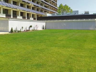 Nagyméretű napháló - kert / udvar ötlet, modern stílusban