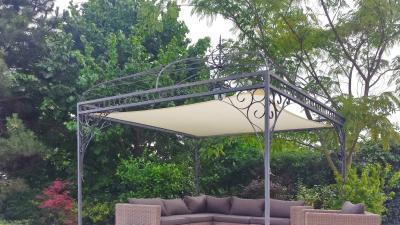 Klasszikus terasz napvitorlával - erkély / terasz ötlet, klasszikus stílusban