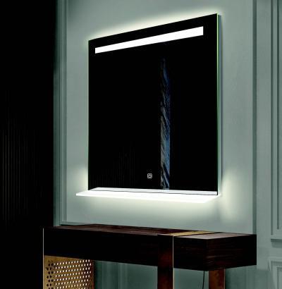 Okostükör LED-del - fürdő / WC ötlet, modern stílusban
