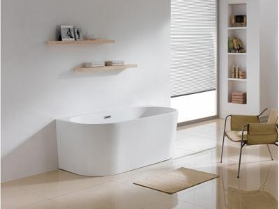 Ívelt fürdőkád - fürdő / WC ötlet, modern stílusban