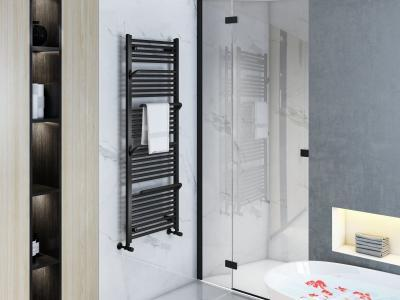 Antracit színű radiátor - fürdő / WC ötlet, modern stílusban