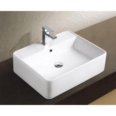 Szögletes mosdó - fürdő / WC ötlet, modern stílusban